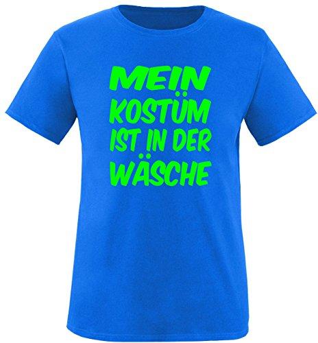 Luckja Mein Kostüm ist in der Wäsche Herren Rundhals T-Shirt Royal/Neongrün