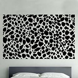 Camiseta de Manga Kanvas 120 x 180 cm L-XL sd8 Leopardo Vinilo Adhesivo Decorativo para Pared, luz Blue_Parent, marrón, 60 x 90 cm Large