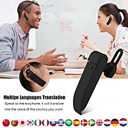 Intelligente Sprache Übersetzer Gerät, Fosa Elektronische Übersetzer Tragbare Bluetooth Multi-Language Übersetzung, 16 Sprachen Wireless Translator Headset für das Lernen Reisen Shopping Business Meet