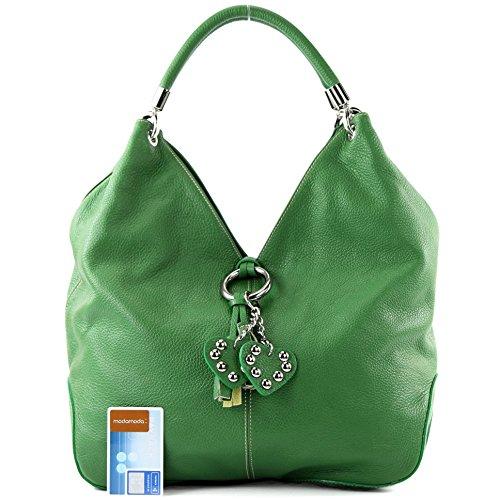 modamoda Gelbgrün Shopper de Damentasche ital 330 Leder Handtasche Ledertasche Schultertasche rP7Crwqx