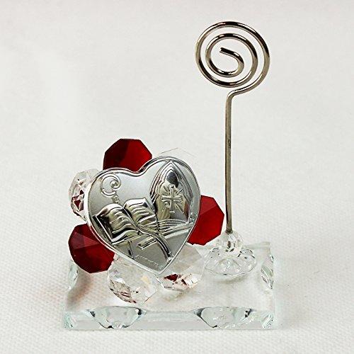 Dlm26059-rosso portafoto memo clip in cristallo per cresima_rosso bomboniera