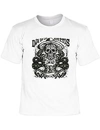 Mexikaner Shirt Kostüm Sombrero Dia de los Muertos T-Shirt Tag der Toten Skull Tattoo Face : )