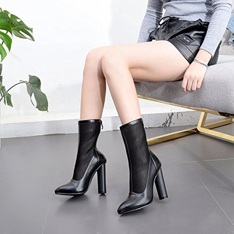 ZHZNVX Nuovi stivali traspiranti filato netto-esposte singola calzatura punta irregolare con donne stivali scarpe... | Di Prima Qualità  | Gentiluomo/Signora Scarpa
