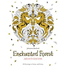 Enchanted Forest Artist's Edition : A Pull-Out and Frame Colouring Book