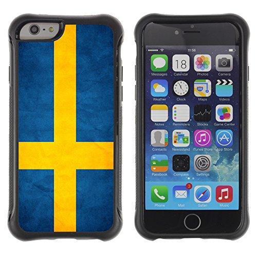 Graphic4You Vintage Uralt Flagge Von Griechenland Griechisch Design Harte Hülle Case Tasche Schutzhülle für Apple iPhone 6 Drapeau Suédois Suède