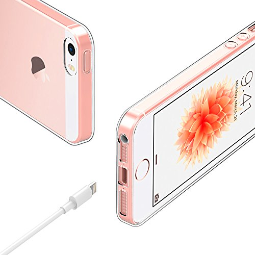 EasyAcc iPhone SE 5S 5 Hülle Case Transparent Handyhülle Schutzhülle Durchsichtig TPU Crystal Clear Case Backcover Bumper Slimcase Clear Hülle