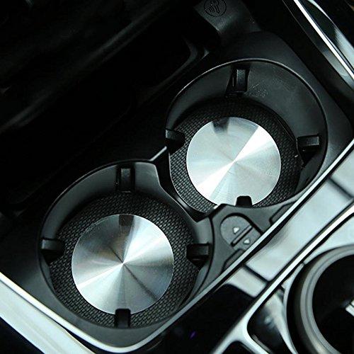 Universal Car Cup Halter Deckel Mat Trim Edelstahl für A / B / C / E / CLA / GLA / GLC / GL Klasse W204 W205 W212 W213 -