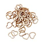 BINGHONG3 50pcs Hollow Wooden Heart Love Rustic Decoration Wedding Table Confetti Slices Rustic Embellishments