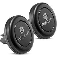 Soporte de coche, wizgear [nuevo] Air Vent magnética soporte universal de coche 2unidades, para tablets y teléfonos móviles y con tecnología Fast swift-snaptm,–Con 4platos de metal