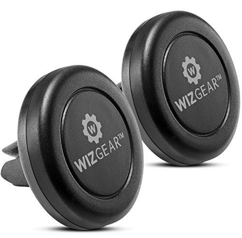 KFZ-Halterung, wizgear [New 2Pack] Universal Air Vent magnetisch KFZ-Halterung, für Handys und Mini Tablets mit Fast swift-snaptm Technologie,–mit 4Metall Teller