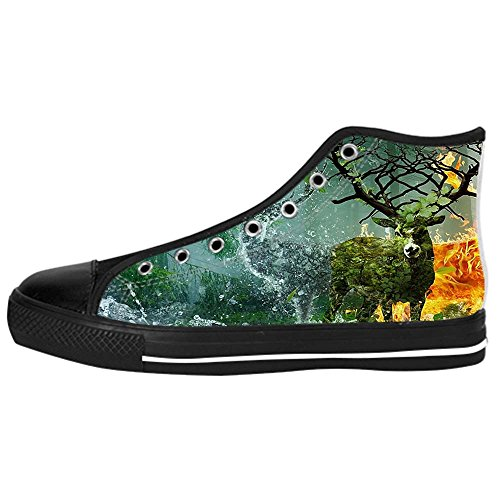 Dalliy kunst hirsch Kids Canvas shoes Schuhe Lace-up High-top Footwear Sneakers C