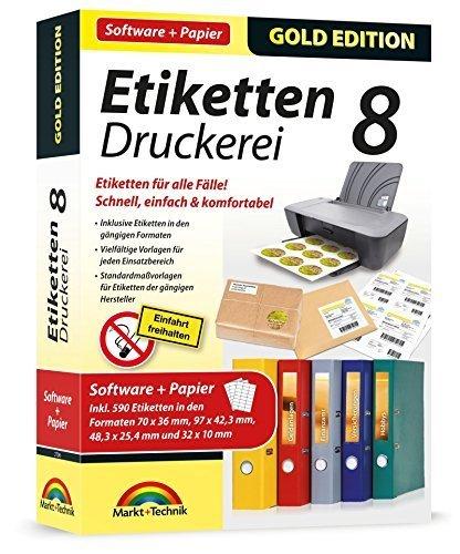 Preisvergleich Produktbild Etiketten Druckerei 8 mit Papier