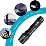 CrazyFire Zoomable LED Torch,1000 Lumen 5 Mode Portable Flashlight,Led Pocket Torch Lamp for Hiking Traveling Camping (White Beam) Bild 6