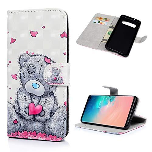 WaackGG S10 Handyhülle Handytasche Kompatible mit Samsung Galaxy S10 Hülle Case PU Leder Tasche...