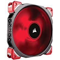 Corsair ML140 Pro LED PC-Gehäuselüfter (140mm, mit Premium Magnetschwebetechnik, rot LED, Single Pack)