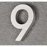 Nanook num ro de rue 9 en acier inox bross design 3d l gant 155 mm amaz - Numero de maison design ...