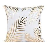 Funda de cojín de almohada, SKY Gold Foil Impresión Sofa almohada de...
