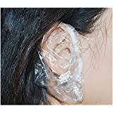 Generic Disposable Clear Shower Water Ear Protector Cap - 25 Pcs