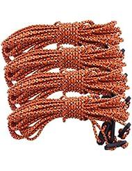 Househome Cuerda de viento, cuerda de nailon de 2,5 m para tienda de