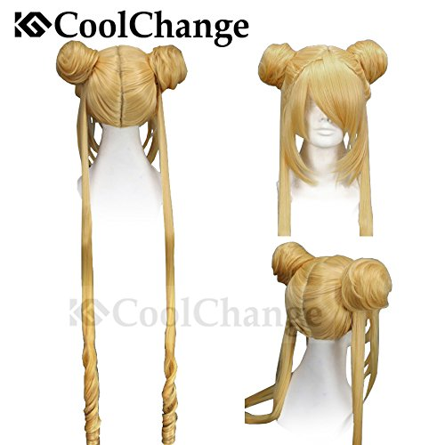 CoolChange Hochwertige Sailor Moon Perücke, Usagi (Halloween Sailor Moon Kostüme)