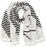 Calvin Klein Logo Jaquard Scarf Sciarpa, Nero (Black & White 910), Unica (Taglia Produttore: OS) Donna