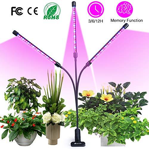 semai Pflanzenlampe LED 30W Pflanzenlicht Pflanzenleuchte Wachstumslampe Wachsen licht Grow Lampe Vollspektrum für Zimmerpflanzen mit Zeitschaltuhr, 3 Arten von Modus, 6 Arten von Helligkeit -
