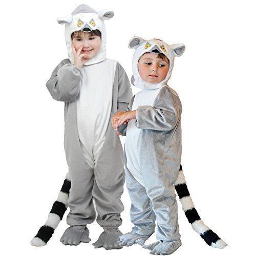 Ring-tailed Lemur Deluxe Fancy Dress Costume Age 3-5 (Kinder Kostüm Lemur)