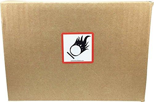 GHS Pictograma Llama Sobre Círculo Pegatinas, 51 mm 2 Pulgadas Cuadrado, 500 Etiquetas en un Rollo