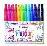 Pilot 4144S12 Fasermaler FriXion Colors, löschbar, 12-er Set