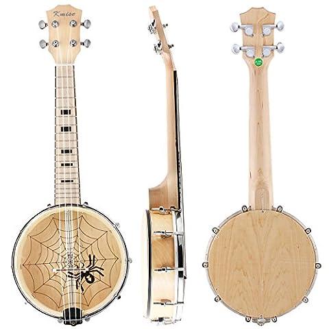 Kmise Banjo Ukulele Banjolele 4 String Ukulele Uke Konzert 23