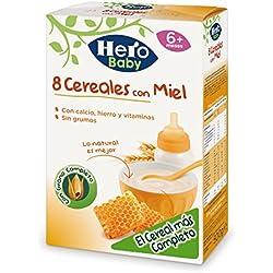 Hero Babynatur - 8 Cereales Miel 500 gr - Pack de 6 (Total 3000 grams)
