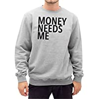 Money Needs Me Sweater Grigio Certified Freak