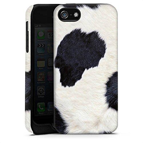 Apple iPhone 4 Housse Étui Silicone Coque Protection Peau de vache Look Vache Cas Tough terne
