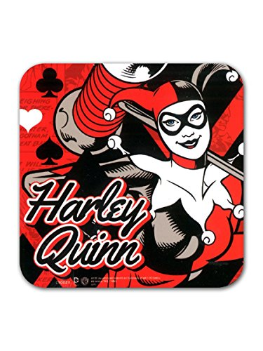 Harley Quinn Black & Red Coaster by DC Comics