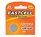 EASTCELL 1 x CR1620 3V Lithium Knopfzelle 70 mAh (1 Blistercard a 1 Batterie) Markenware
