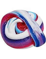 Brillant Fluffy Floam Slime, Fat. Chot coloré Boue Safe parfumée doux Sludge DIY Argile soulager le stress Jouets Party Games n'borax non toxique Cadeau pour enfants adultes, a, 170ml