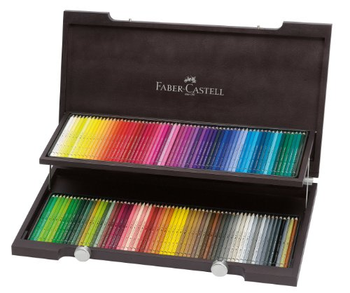 Great Buy for Faber-Castell 120 Albrecht Dürer Artists' Watercolour Pencils in Wenge – Stained Wooden Case Discount