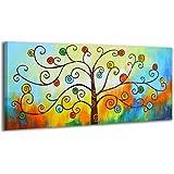 100% LABOR A MANO + certificado / Inspiración de la mañana / 115x50 cm / El cuadro dibujado con pinturas acrílicas / cuadros sobre el lienzo con bastidor de madera / cuadro dibujado a mano / montaje cómodo sobre la pared / Arte contemporáneo