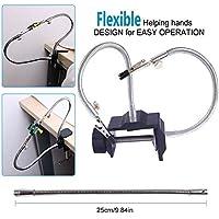LITEBEE Flexibel Helfende Hände, Loeten Dritte Hand löthilfe, Lötstation Werkzeug (Zwei flexible ungewöhnliche Arme, 5cm Pinch Clip Einstellbarer maximaler Platz) by (schwarz/silber zufällig)