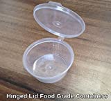 Plastic 55ml Hinged Lid Deli Pot or Sauce Pot (Pack of 50) by Cater For You