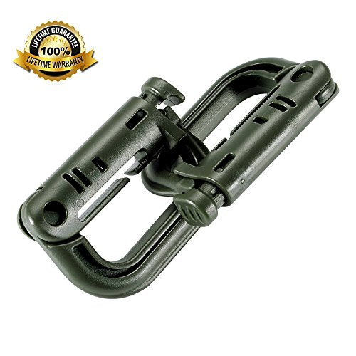 Molle Clip Tactical Multipurpose Small D-Ring Grimloc Locking Hanging Hook Tactical Link Snap Keychain Button Carabiner…