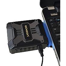 [mejor portátil Cooler] acxeon Laptop y Notebook Cooling Pad Air Extracting portátil enfriador con aspiradora–USB con suministro de corriente, Wind de ventilador Control, funcionamiento silencioso, ultraportátil radiadores, CPU Cooler Ventilador Disipador de calor para portatil, ordenador portátil, Negro