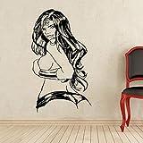 Sticker mural Creative DIY wall art décoration de la maison Wonder Woman Sticker Vinyle Comics Art salon stickers muraux 50x80 cm