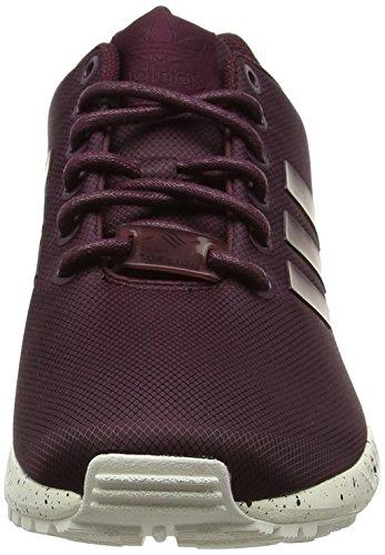 adidas Herren Zx Flux Low-Top Rot (Maroon/Maroon/Chalk White)
