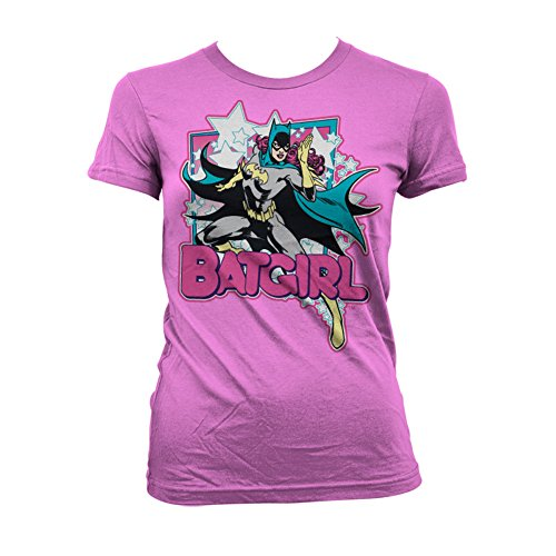 Officially Licensed Merchandise Batgirl Girly T-Shirt (Pink), Medium