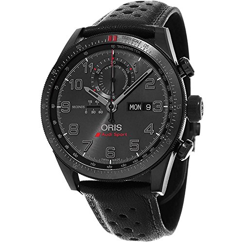 Oris Audi Sport Limited edition of 2000 pieces 778.7661.7784.LS 44mm Automatic Titanium Case Black Calfskin Anti-Reflective Sapphire Men's Watch