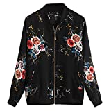 PinkLu Mantel Damen große größen schwarz weiß Parka Zipper Print Jacke Langarm Fashion Windbreaker Loose Sport Trenchcoat Stretch Manschetten Streetwear Baseball Uniformen Winterjacke Wintermantel
