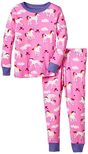 Hatley Mädchen, Zweiteiliger Schlafanzug, Pj Set (Ovl) -Unicorns, GR. 19 (Herstellergröße: 3 Years), Rosa (pink)