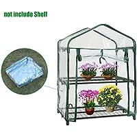 Mini invernaderos de plástico cubierta de repuesto para exteriores, PVC 2 niveles para plantas en casa verde casa cubierta de jardín Mini cubierta de jardín (sin marco de hierro)