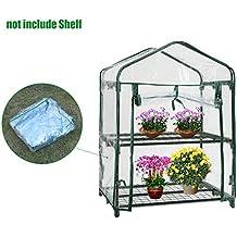Mini invernaderos de plástico cubierta de repuesto para exteriores, PVC 2 niveles para plantas en